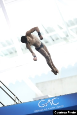 Jordan Pisey Windle, a Cambodian-born American, is a member of the United States National Team and is ranked in the top 5 divers in the United States. (Courtesy Photo)