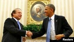Прем'єр-міністр Пакистану Наваз Шариф (л) і Барак Обама у Білому домі