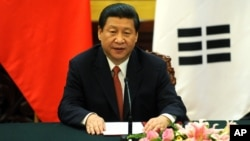 Presiden China Xi Jinping mengatakan Beijing bersedia mengesampingkan pertikaian dan bekerjasama di wilayah yang disengketakan (foto: dok).