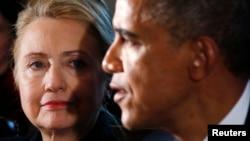 Hillary Clinton et Barack Obama, Maison Blanche, Washington, DC, le 28 novembre 2012.
