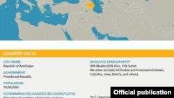 AZərbaycan xəritəsi -dinlər