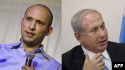 Benjamin Netanyahu ve Yahudi Vatanı Partisi Lideri Naftali Bennett