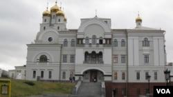 叶卡捷琳堡的滴血教堂。