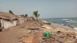 Lahou Kpanda est menacé de disparition en raison de l'avancée de l'océan