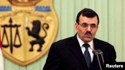 9일 사임한 북아프리카 튀니지의 알리 라라예드 총리 (자료사진)