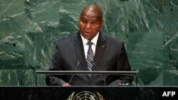 Le président centrafricain Faustin Archange Touadera à New York, le 25 septembre 2019.