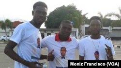 Promotores do partido Crentes-PJ, no Uíge, Angola