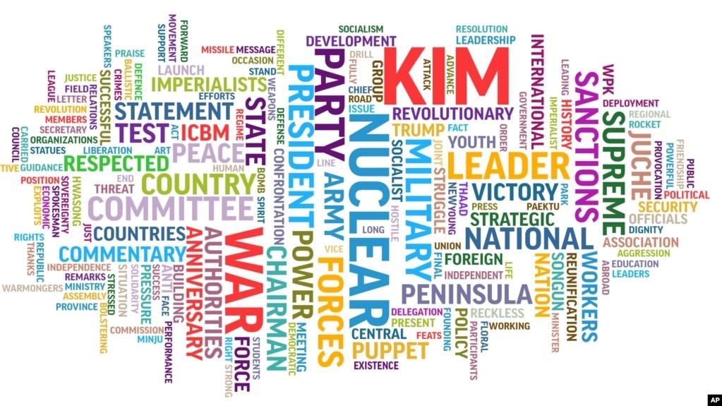 AP Word Cloud Reveals Patterns in N Korean Propaganda