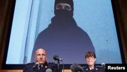 Polisi Ontario, Kanada, memperlihatkan foto Aaron Driver, pria Kanada tersangka terorisme yang tewas oleh polisi (11/8). (Reuters/Chris Wattie)