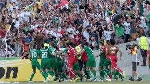 سبزپوشان عراقی، پس از پیروزی در برابر تیم ملی ایران