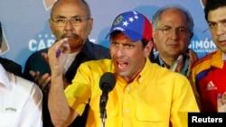 Henrique Capriles pidió al Consejo Nacional Electoral respeto por decisión del electorado.