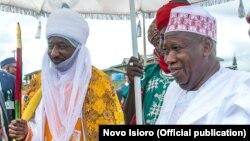 Mai Martaba Sarkin Kano Alh. Sanusi Lamido Sanusi III, da Gwamna Dr. Abdullahi Ganduje