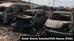 Harin bom a Nyanya, kilomita 16 daga tsakiyar birnin Abuja, Afrilu 14, 2014.