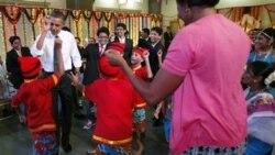 باراک و میشل اوباما در جشن دیوالی