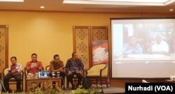 Diskusi Pemilu 2019 oleh Departemen Politik dan Pemerintahan UGM di Yogyakarta, Rabu, 19 Februari 2020. (Foto: VOA/Nurhadi)
