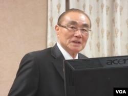 台湾国防部长冯世宽 (美国之音张永泰拍摄)