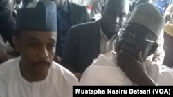 Daga hannun dama tsohon gwamnan Neja Dakta Mu'azu Babanhida Aliyu tare da Umar Nasko a Kotu
