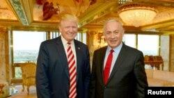 Presiden AS Donald Trump bersama Perdana Menteri Israel, Benjamin Netanyahu (Foto: dok).