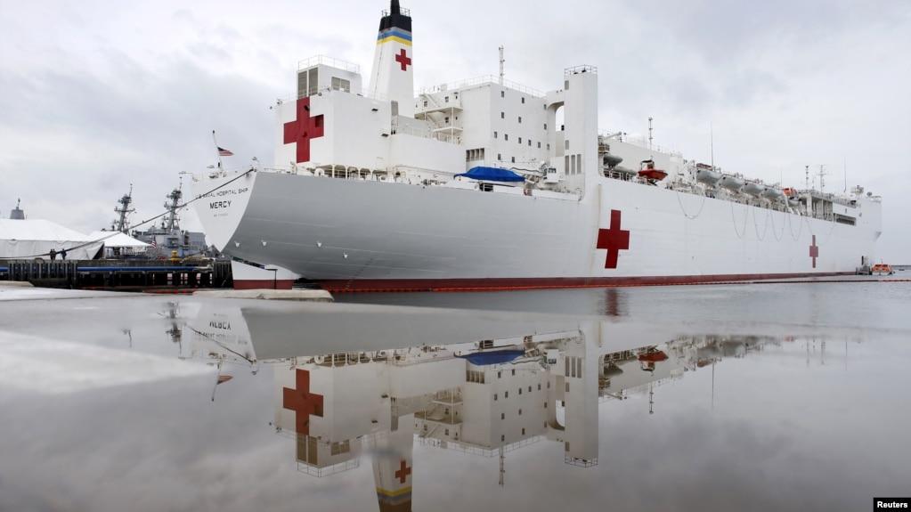 Tàu bệnh viện USNS Mercy.
