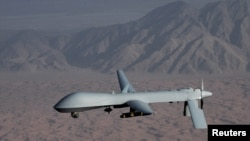 An undated handout image courtesy of the U.S. Air Force shows a unmanned MQ-1 Predator drone.
