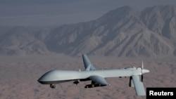 美国空军提供的一幅无人机照片