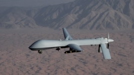 An undated handout image courtesy of the U.S. Air Force shows an unmanned Predator drone.