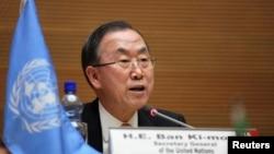 Tổng Thư Ký Liên Hiệp Quốc Ban Ki-moon. REUTERS/Tiksa Negeri