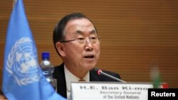 Babban Magatakardan Majalisar Dinkin Duniya Ban Ki-moon.