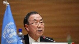 Ban Ki-moon, secrétaire général de l'ONU, à Addis-Abeba