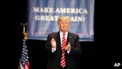Президент Трамп перед виступом у Фініксі. 22 серпня, 2017.