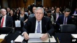 Ông John Tefft trong buổi điều trần trước Ủy ban Đối ngoại Thượng viện Mỹ