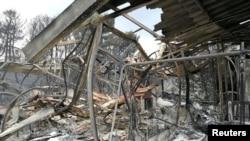 7月27日遭受大火肆虐後的馬蒂渡假村。