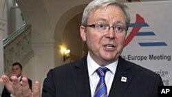 ທ່ານ Kevin Rudd ລັດຖະມົນຕີການຕ່າງປະເທດອອສເຕຣເລຍ. ວັນທີ 24 ມັງກອນ 2012.