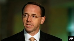"FILE - U.S. Attorney Rod Rosenstein, pictured in Greenbelt, Maryland, in November 2010, says the Mohamad Elshinawy case ""demonstrates how terrorists exploit modern technology to inculcate sympathizers and build hidden networks."""