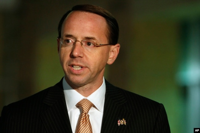 file assistant attorney general rod rosenstein pictured in greenbelt md in - Attorney General Job Description
