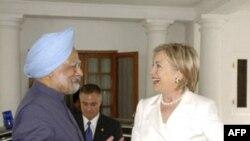 Хиллари Клинтон и Манмохан Сингх