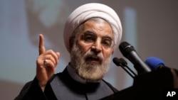 La portavoz del Departamento de Estado, Marie Harf, dijo que se ha logrado progreso en disminuir el programa nuclear de Irán desde la llegada al poder del presidente Hassan Rouhani hace un año.