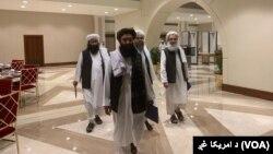Délégation des talibans au Qatar.