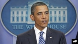 奧巴馬星期二向記者談到提高美國國債上限的問題