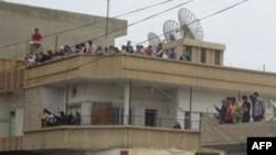 Biểu tình chống chính phủ tại thị trấn Qamishli, Syria, ngày 29 tháng 4, 2011