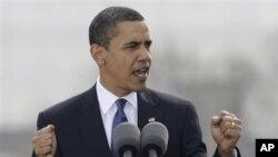 პრეზიდენტი ობამას გამოსვლა პრაღაში. 2009 წ.