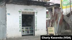 Une officine pharmaceutique à Goma, Nord-Kivu, RDC, 27 octobre 2017. (VOA/Charly Kasereka)