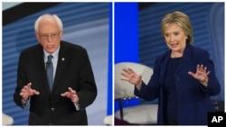 Abakandida b'Abademokarate Bernie Sanders na Hillary Clinton