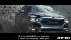 A scene from a Ram truck ad that used a speech by Martin Luther King, Jr., that was shown during the Super Bowl, Feb. 4, 2018.