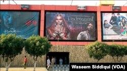 کراچی میں فلم پدماوت کی ریلیز کے وقت کا ایک منظر