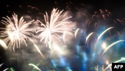 Fireworks lit the sky in most parts of the world as nations celebrated the coming of the new year.