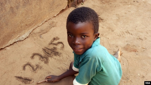 Child in Zomba, Malawi is enrolled in Numeracy Boost program.