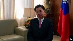 台湾外交部部长吴钊燮2019年1月28日接受美国之音采访(美国之音海伦摄影)