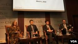 戰略與國際研究中心美日學者專家討論美日同盟與台海兩岸關係(美國之音鐘辰芳拍攝)