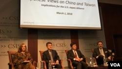 战略与国际研究中心美日学者专家讨论美日同盟与台海两岸关系 (美国之音钟辰芳拍摄)